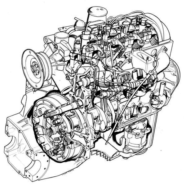 engines citroen ds series the car hobby 1970 Citroen Van cutaway drawing showing engine internals source