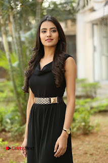 Telugu Actress Rukhsar Mir Stills in Black Long Dress at Aakatayi Movie First Look Launch  0091.JPG