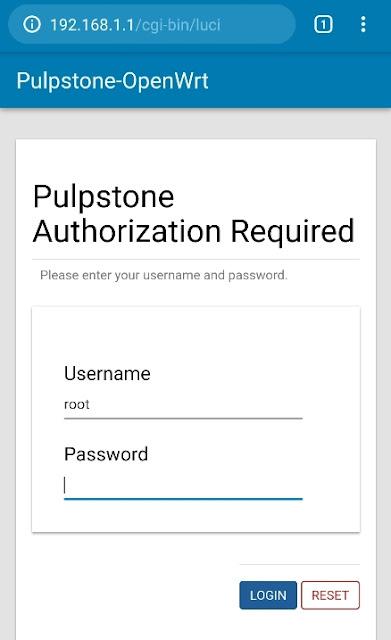 Instal Pulpstone OpenWrt di STB HG680p