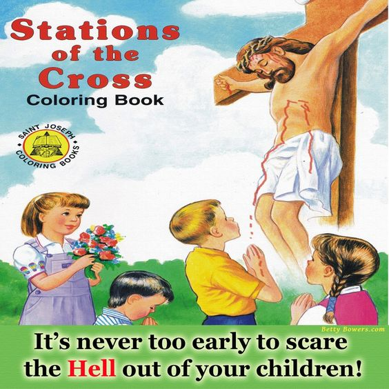 Stations of the Cross Colouring Book Picture