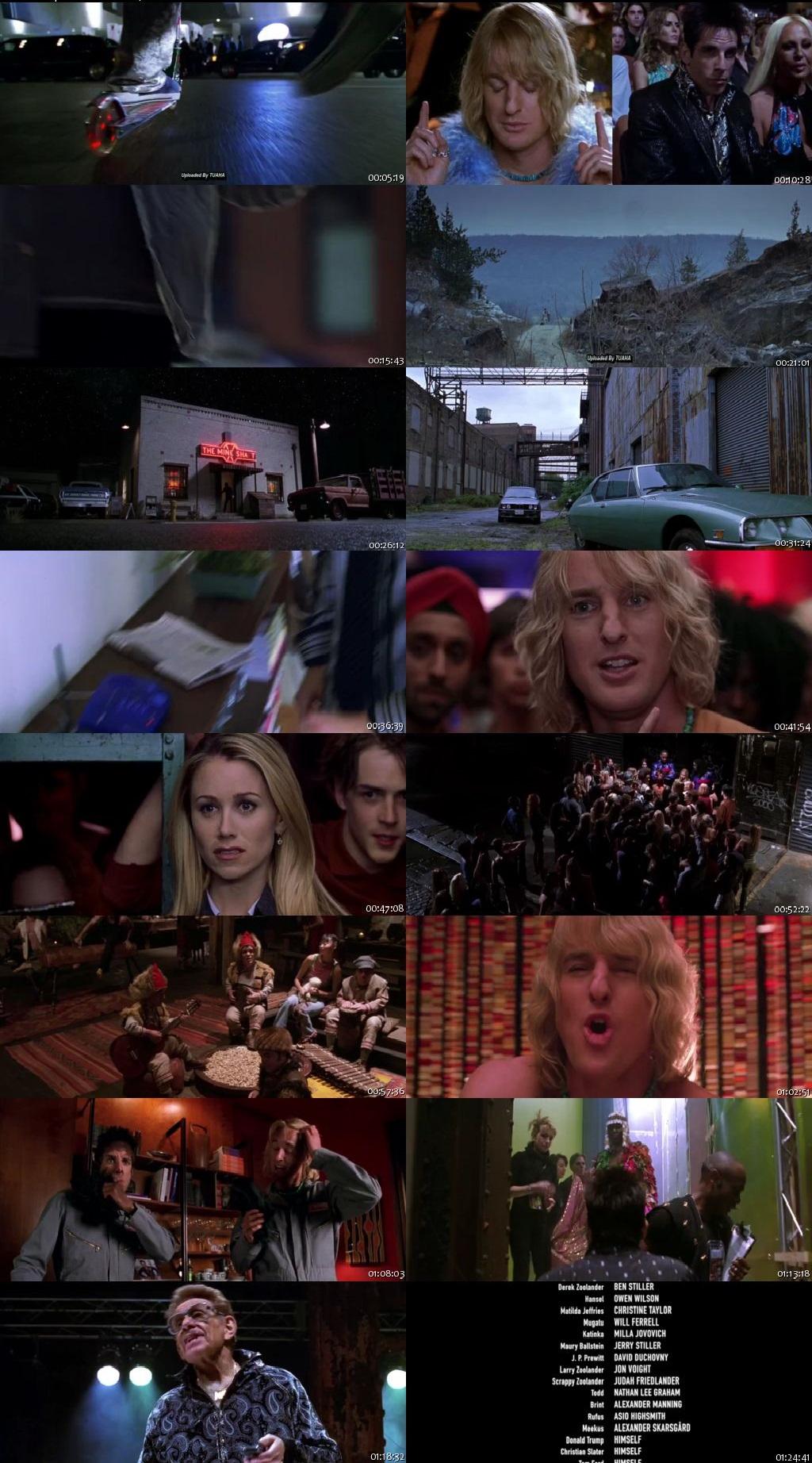 Screen Shot Of Zoolander 2001 300MB Full Movie Hindi Dubbed Free Download 720P BRRip HEVC