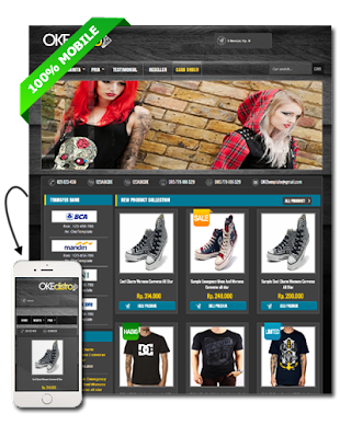 OKEdistro - Blogspot Template Toko Online