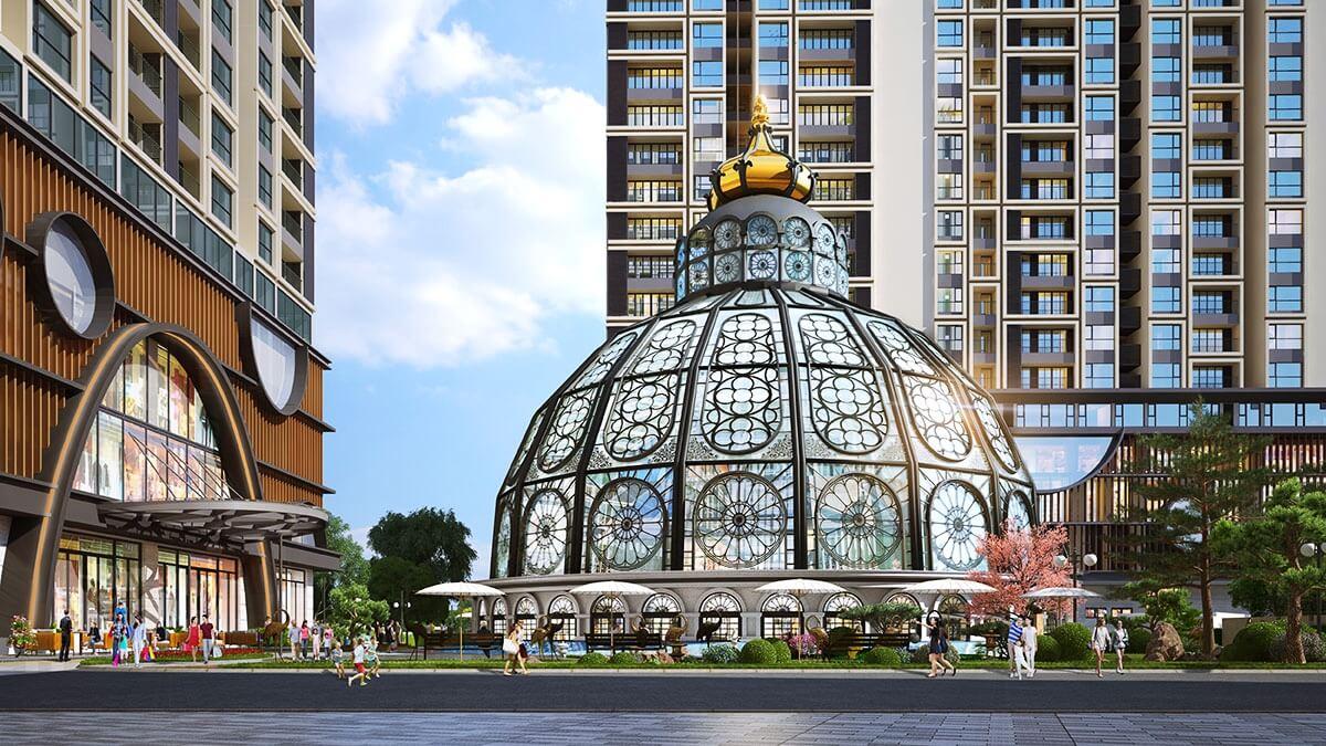 Lâu đài thuỷ kính dự án Hinode City