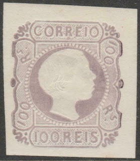 Portugal 1885 - King Pedro V straight hair -100 Réis