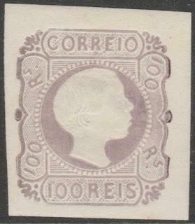 Portugal 1885 - King Pedro V straight hair -100 Réis