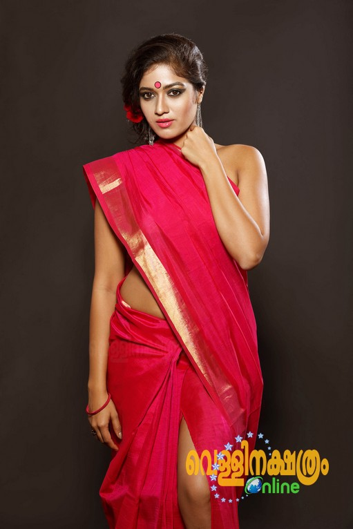 Meghana Raj Hot Navel Photos