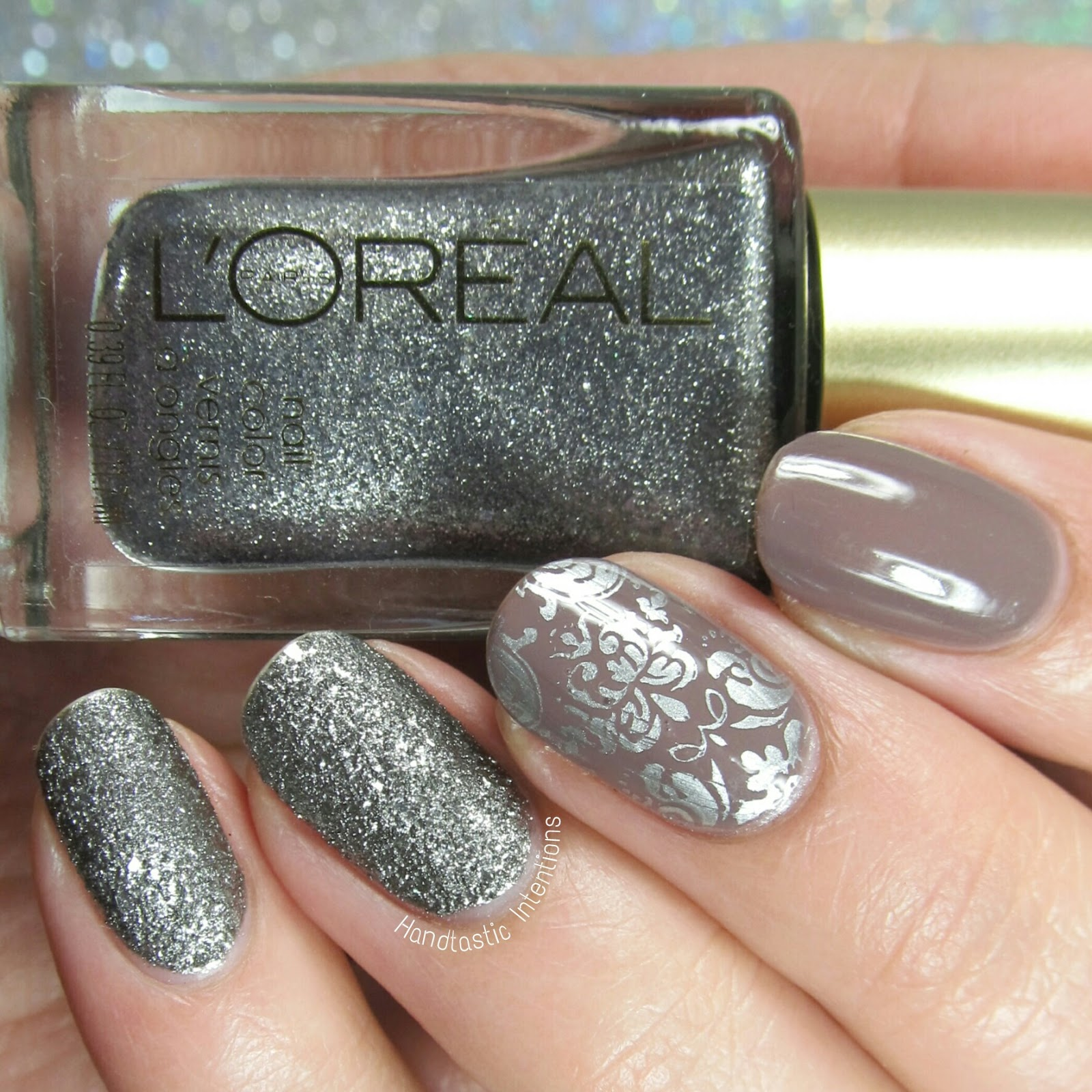 Handtastic Intentions Shades Of Grey Nail Art