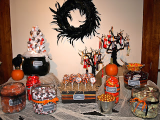 A Party Style Halloween Candy Bar