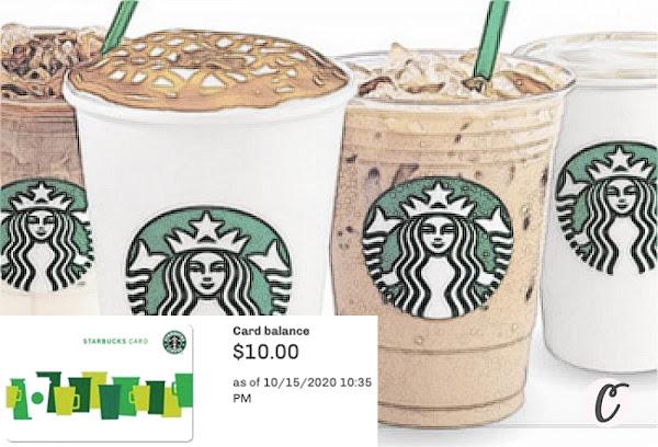 $10.00 Starbucks ☕ Gift Card 💳