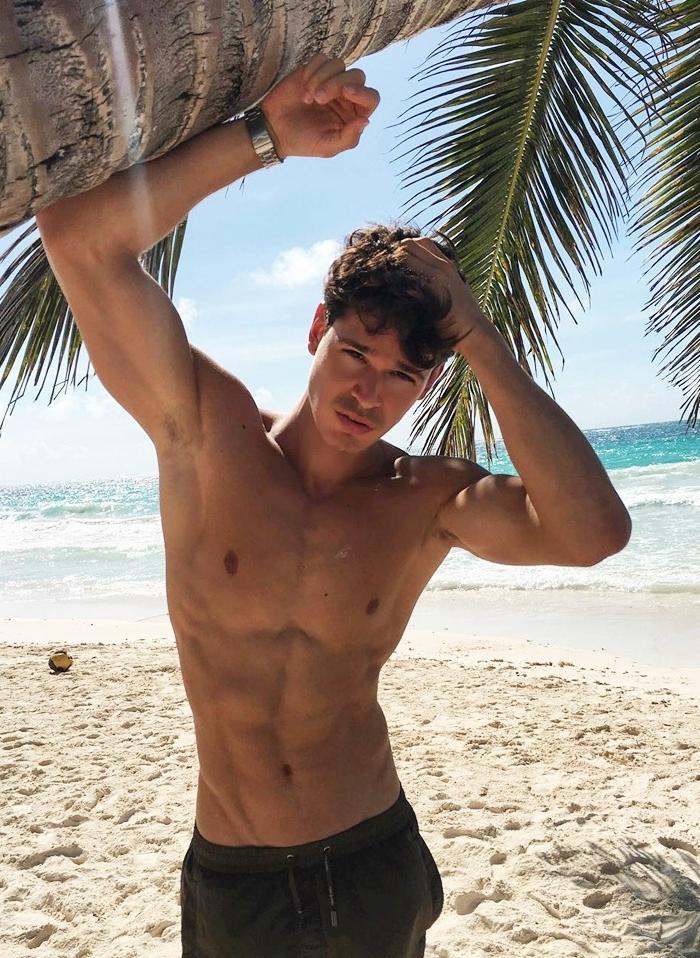cute-shirtless-boy-beach-sand