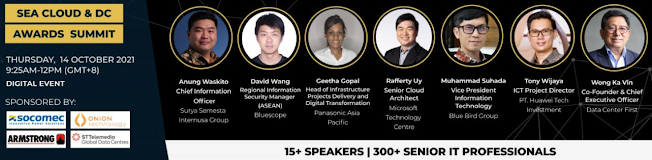 SEA Awards Summit 2021 (Singapore, Indonesia, Thailand) 14 Oktober 2021
