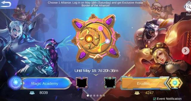 daftar hero magic academy ML