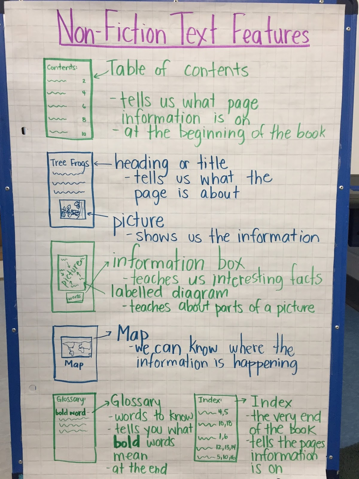 Thinking And Learning In Room 122 Non Fiction Text Features