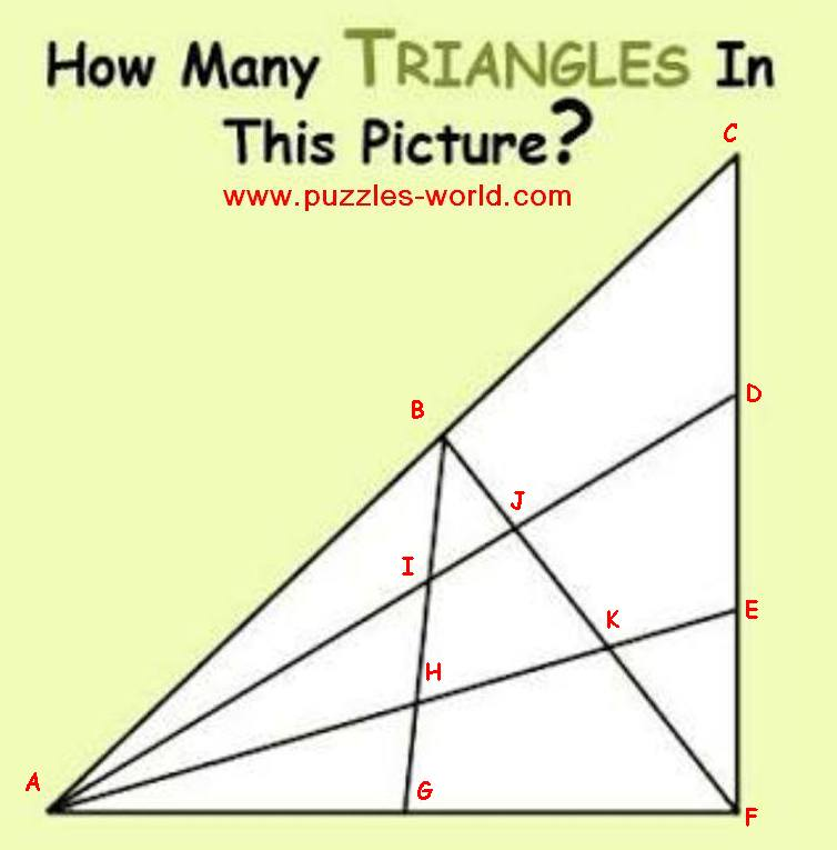 How many Triangles in this Picture ?