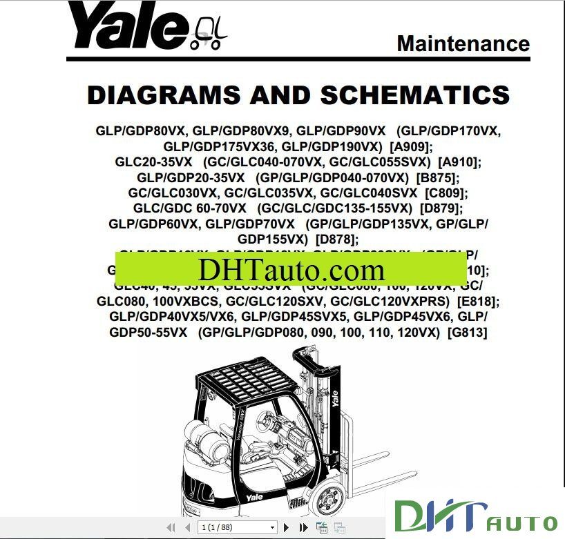 Yale Forklift Diesel Service Manual Full