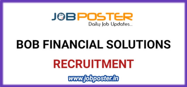 Job Openings for Manager / Assistant Manager in BOB Financial Solutions