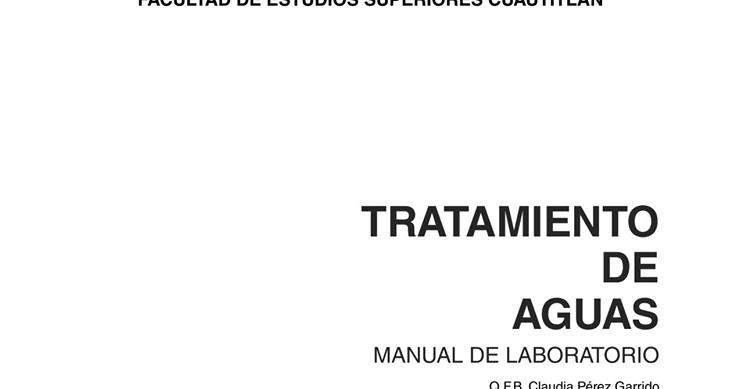 COMPUCURSOS: MANUAL DE LABORATORIO DE TRATAMIENTO DE AGUAS
