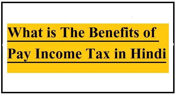 What is The Benefits of the Pay Income Tax in Hindi