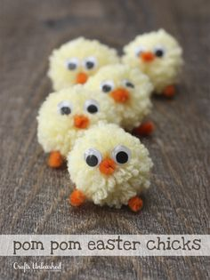 easter crafts, kids, pom pom crafts