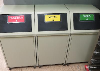 recycling bins, Portuguese labels