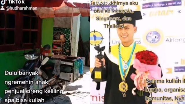VIRAL Anak Penjual Cireng Kuliah Sampai S2, 'Tampar' Tetangga yang Nyinyir, Lihat Pekerjaannya Kini