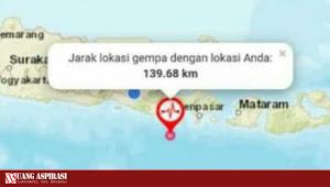 Gempa 6.0 Magnitudo Berpusat di Nusa Dua Bali Dirasakan Sampai ke Beberapa Wilayah di Jawa Timur