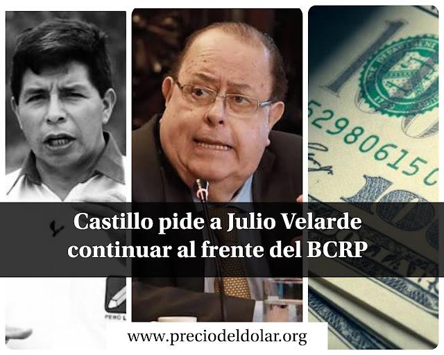Pedro Castillo y Julio Velarde BCRP