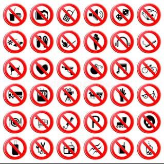 मनाही चिन्ह (Prohibition sign's)