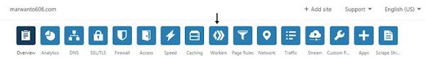menu Workers Cloudflare