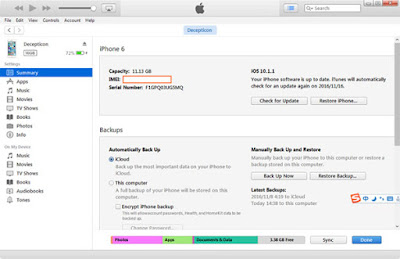 cara cek iphone asli lewat itunes