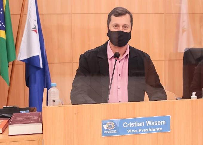 Projeto de combate ao desperdício de alimentos de autoria do vereador Cristian Wasem (MDB) foi aprovado pela Câmara