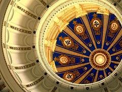 Blue Ceiling Capitol Building Havanna Cuba per Les Haines a Flickr