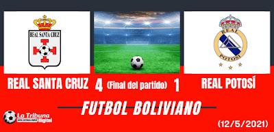 Real Santa Cruz vs Real Potosí
