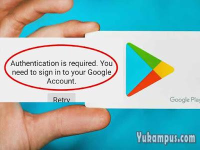 cara autentikasi akun google play store