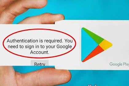 Cara Autentikasi Akun Google Play Store HP Android
