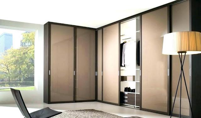 L-shaped bedroon wardrobe designs