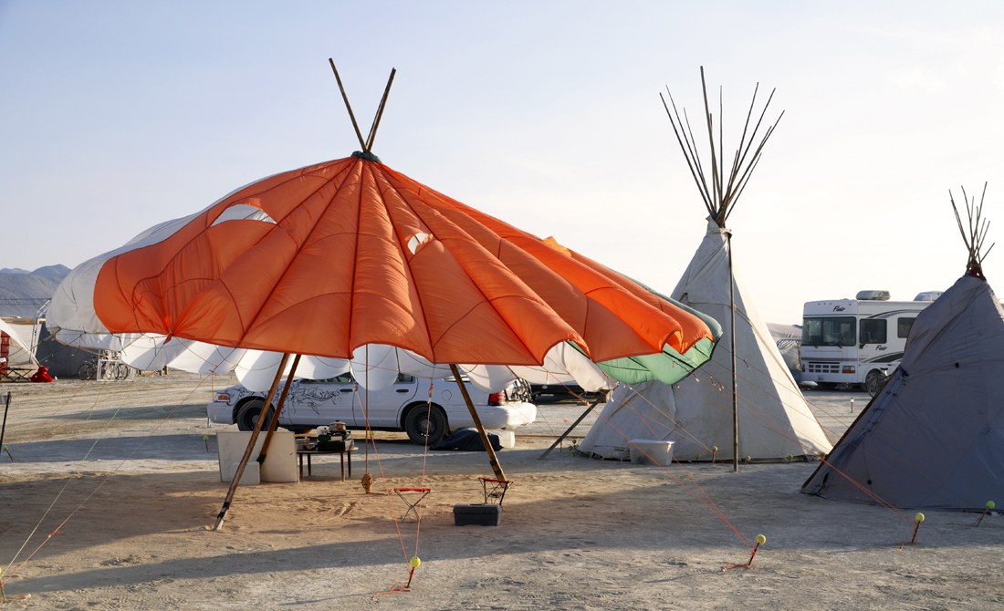 This Is Black Rock City Camping In Style Or Not At Black