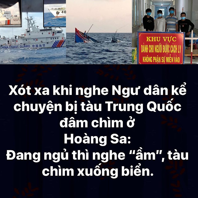 Ngư dân kể chuyện bị tàu Trung Quốc đâm chìm ở Hoàng Sa, nhưng phía TQ lại nói khác