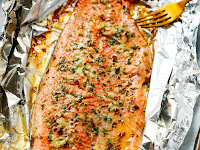 Garlic Butter Rainbow Trout in Foil Recipe