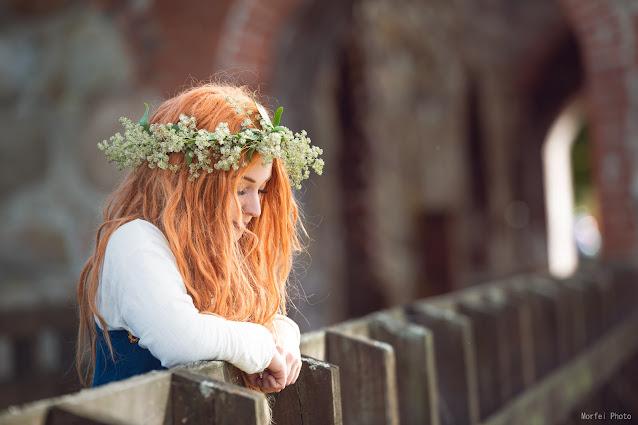 woman midsummer flower crown