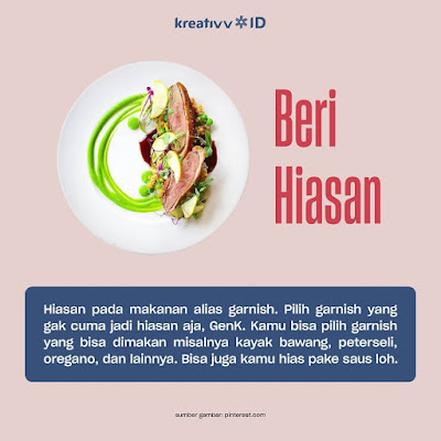 Tips Food Plating Beri Hiasan
