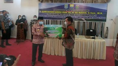 Wako  Ahmadi Sambut Kunjungan Perdana Gubernur Alharis ke Sakti Alam Kerinci.