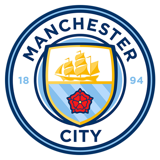 Fútbol: Imágenes del escudo del Manchester City de Inglaterra