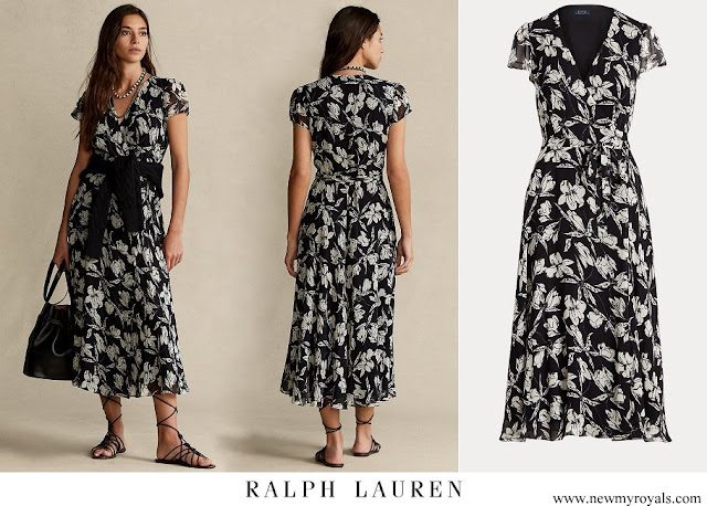 Crown Princess Mary wore Polo Ralph Lauren Floral Crinkle Wrap Dress