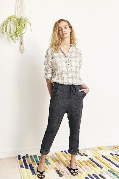 pantalon bleu Orson Elsa Esturgie