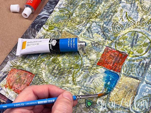 Textural Art Journaling with Stencils - Tutorial Step 5 - Gwen Lafleur