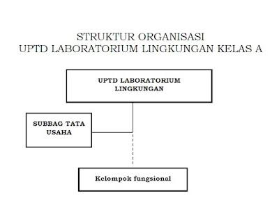 Struktur Organisasi UPTD Laboratorium Lingkungan Pada Dinas Lingkungan Hidup Kabupaten /Kota  Kelas A