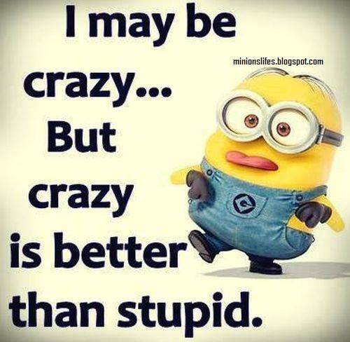 Minions I M Not Crazy Quote: Minion Jokes And Quotes.: July 2015