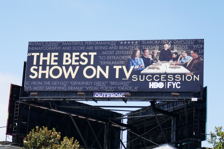 Succession 2020 Emmy FYC billboard