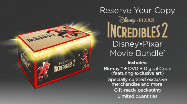 Incredibles 2 Disney Movie Club Limited Edition Blu ray